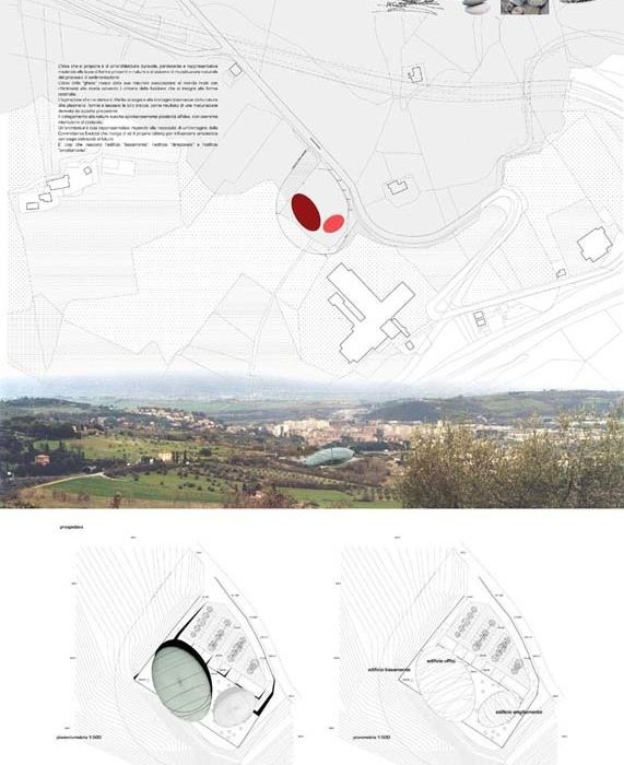 COMPETITIVE EXAMINIATION OF IDEAS FOR BUILDING A NEW HEADQUARTERS FOR THE ASSOCIATION OF MANUFACTURERS OF THE PROVINCE OF PERUGIA IN THE MUNICIPALITY OF PERUGIA, IN PISCILLE, AND ARRANGING THE EXTERNAL AREAS