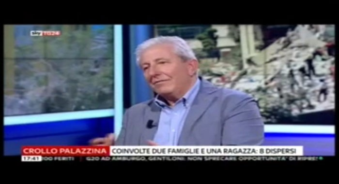 Ing. Arch. Massimo Mariani Intervento a Sky tg24 07/07/2017