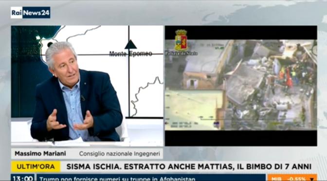 "<span lang =""it"">RAINEWS 24 22/08/2017 – Terremoto Ischia – Massimo Mariani (1 di 2)</span>"