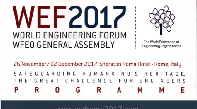 "<span lang =""it"">WEF 2017 (WORLD ENGINEERING FORUM)- Ing. Arch. Massimo Mariani – Intervento</span>"